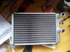 New Heater Core - instructions for the selas can just be seen on the left.