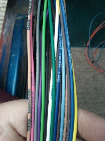 Labeled AAW wires