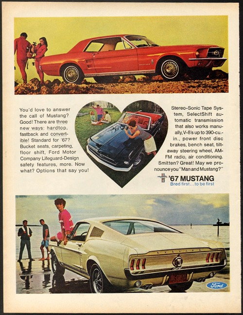 Vintage Mustang Adverts One Man And His Mustang
