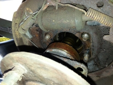bearing removed from axle case