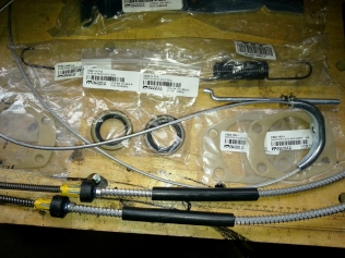 emergency brake parts other end of cable