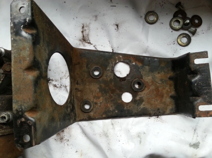 Inside of the braket where the arm move.