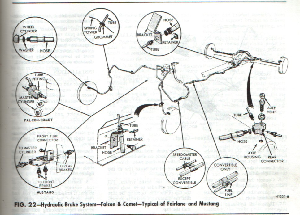 Front Rear Brake Diagrams on 1993 ford f150 heater diagram