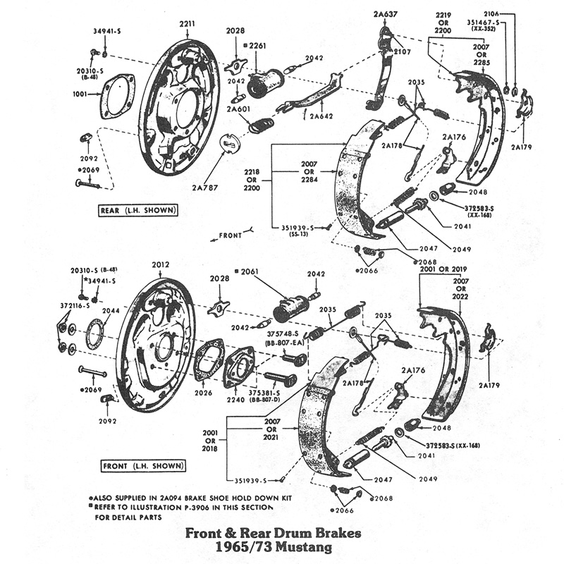 drum split?w=640 front & rear brake diagrams one man and his mustang mustang front suspension diagram at bayanpartner.co