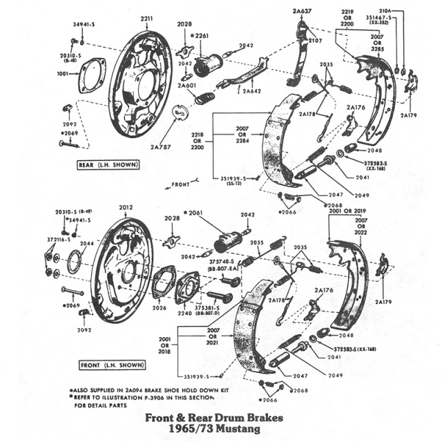 Front Amp Rear Brake Diagrams One Man And His Mustang