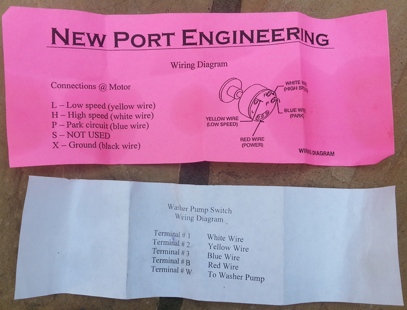 New Port Engineering 2 Speed Wiper Motor   One Man And His