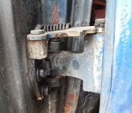 bottom hinge with all bolts in place