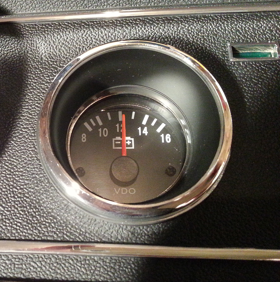 Voltmeter On Dash : Ammeter to volt meter gt dash conversion one man and his