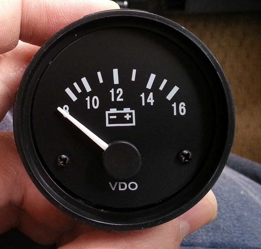 Ammeter To Volt Meter Gt Dash Conversion One Man And His