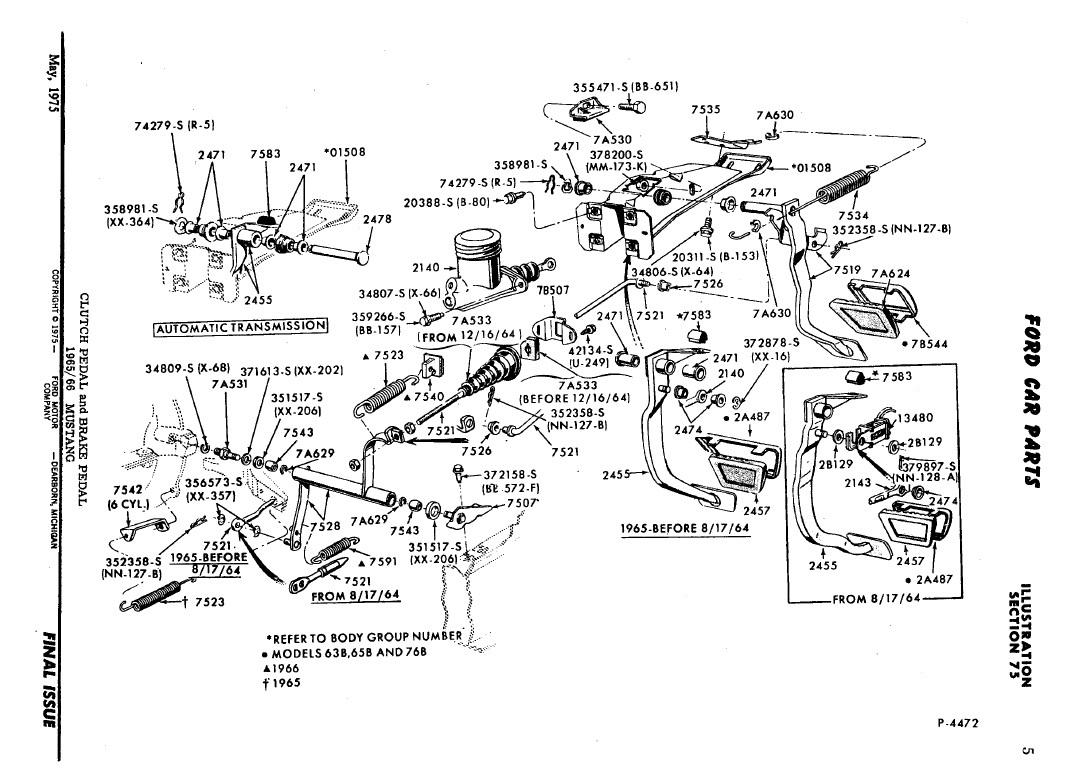 1968 Ford Mustang Wiring Diagram 1967 Clutch Linkage Data 69 Motor Mounts