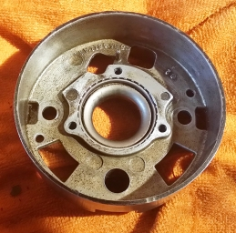 top side with cleaned centre bearing