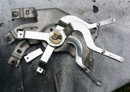 spring clip to remove the levers if required
