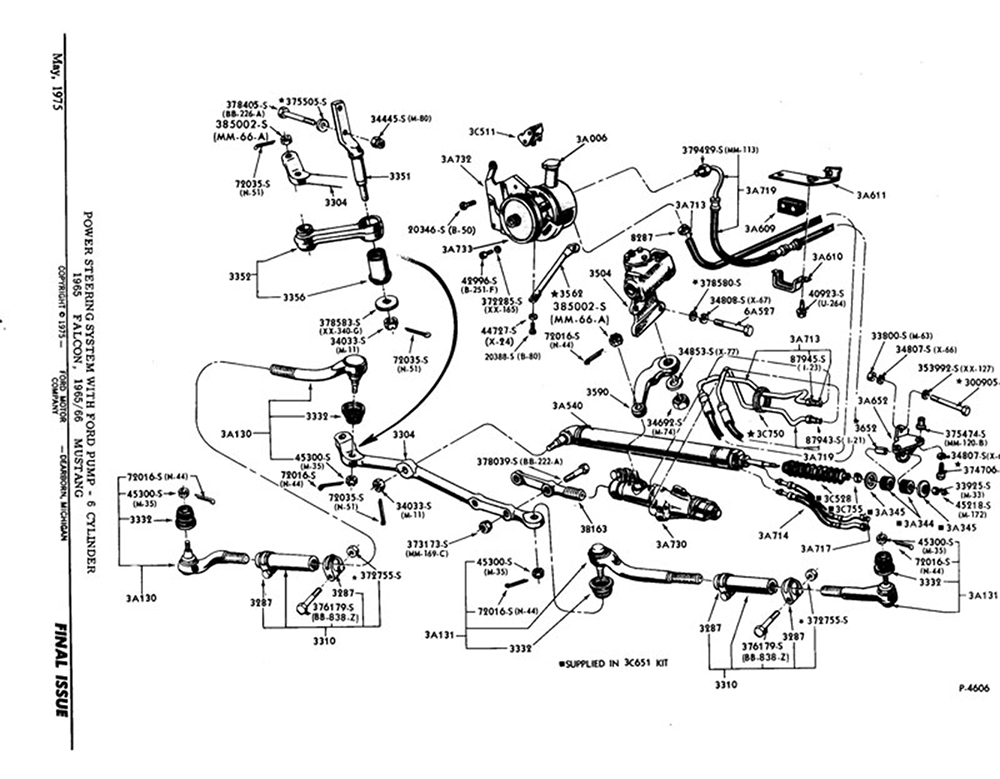 1969 mustang power steering diagram