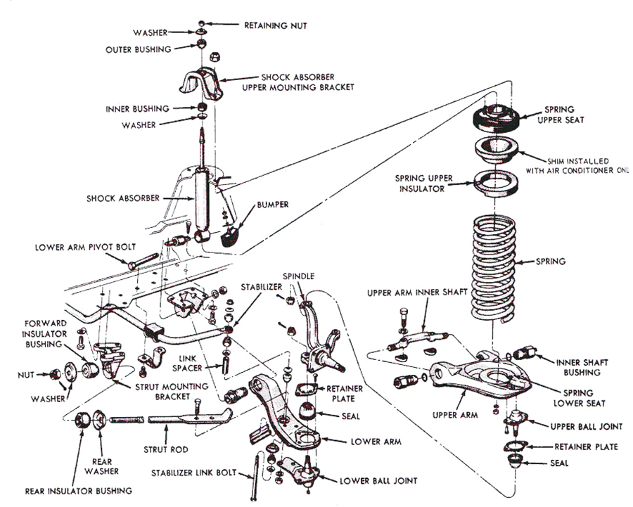 1967 El Camino Wiring Diagram in addition Camaro Wiring Diagram Further 1967 On also 72 Chevy C10 Vacuum Diagram further 1968 Dodge Charger Rear Suspension besides 64 7 chvl acc and cltch pdl assy pic. on 67 chevelle wiring diagram