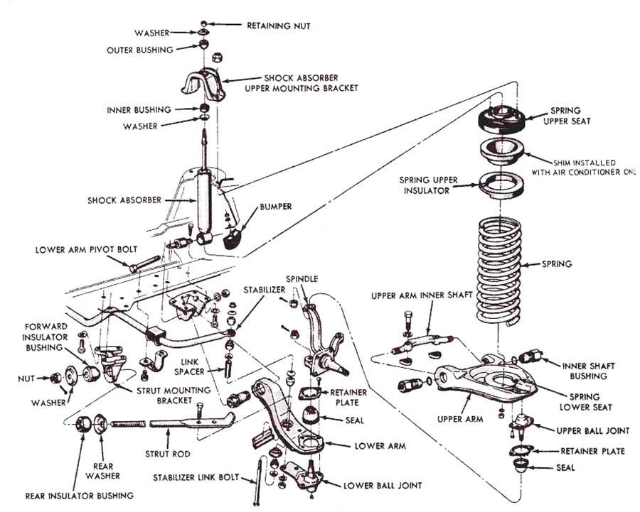 2007 chevy silverado front suspension diagram