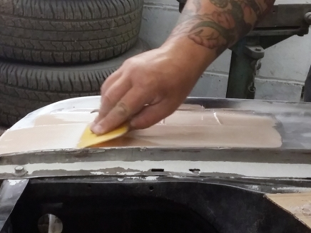 applying the filler