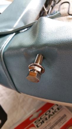 inserted bolt.