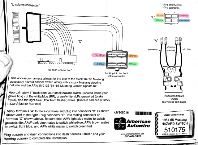 the original ford hazard wiring diagram  the full american autowire