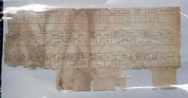 Classic Mustang Vin & Door Decoder, Build Sheets | One Man